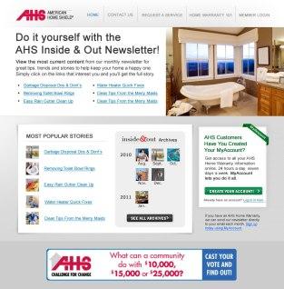 AHS Landing Page